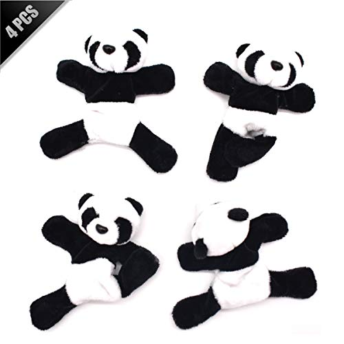 Liwein 4 Pieza Imán de Nevera Panda,Lindo Suave Peluche 3D Panda Imán Refrigerador Pegatina Magnético Encantador Recuerdo Decoración Regalo Juguete para Niños