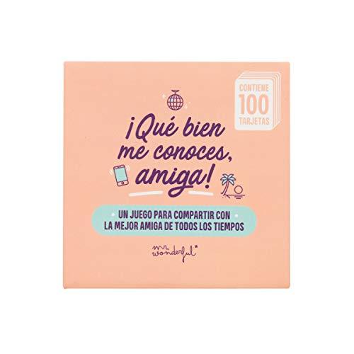 Mr. Wonderful WOA10016ES Juego de Cartas - Qué Bien me Conoces, Amiga