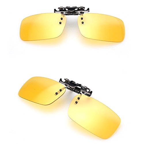 BINGHONG3 Bingongong3 Unisex Polarisierte Tages- und Nachtsichtbrille UV400 Linsen zum Aufstecken Ns