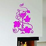 yaoxingfu Décor à la Maison Stickers Muraux Verre De Raisins Restaurant Cuisine...