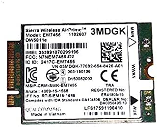 ITSL Sierra Wireless AirPrime EM7455 M.2 Mobile LTE WWAN Card DELL DW5811E A01 3MDGK