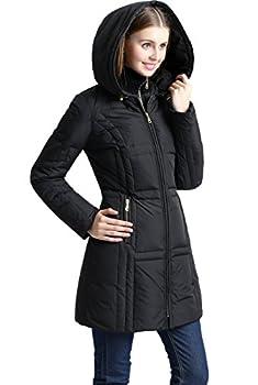 BGSD Women s Whitney Waterproof Down Puffer Coat Black X-Large