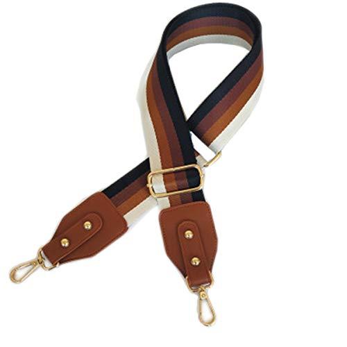Beacone Wide Purse Strap Replacement Adjustable Crossbody Handbag Strap Belt (Brown)