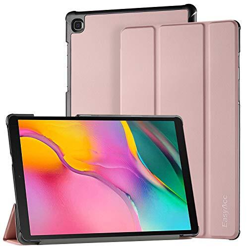 EasyAcc Hülle für Samsung Galaxy Tab A 10.1 2019 - Ultra Dünn mit Standfunktion Slim PU Leder Smart Schutzhülle Passt für Samsung Galaxy Tab A T510/ T515 10.1 Zoll 2019, Roségold