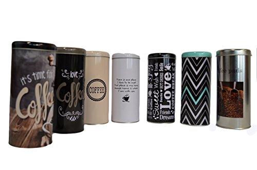 Riyashop Kaffee pad büchse Pad Dose Box Kaffeepad-Dose ca. 17cm ver.Motive