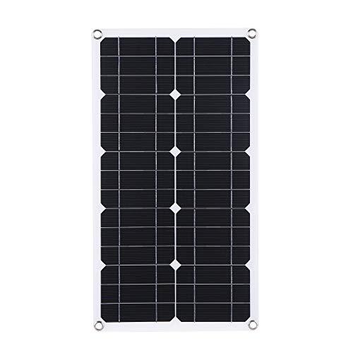 Lixada 50W DC 9V / 18V Dual Output Solarpanel mit 2 USB-Anschlüssen und IP65-Wasserdichtigkeitsregler für 12V / 24V Solarladeregler PWM Intelligenter Regler