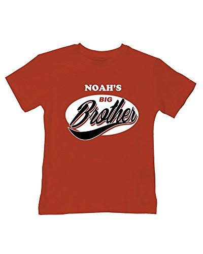 Ice-Tees T-shirt d'été pour bébé avec inscription « Big Brother » - Rouge - 2-3 ans