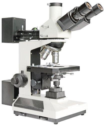 Bresser professionelles trinokulares Auflicht und Durchlicht Mikroskop Science ADL-601P 40-600x Vergrößerung, planachr. Objektive, koaxialer Kreuztisch, voll polarisierbare Beleuchtung, Kameratubus