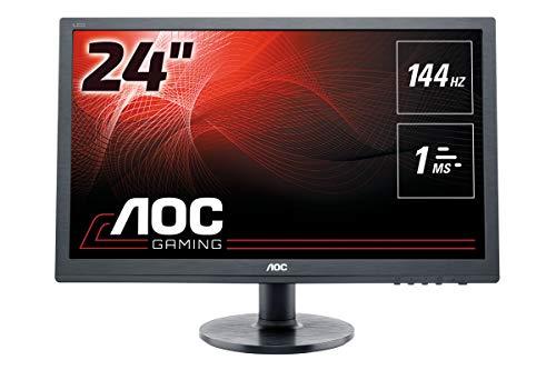 AOC G2460FQ 60,96 cm (24 Zoll) Monitor (VGA, DVI, HDMI, Displayport, 1920 x 1080, 144 Hz, 1ms Reaktionszeit) schwarz