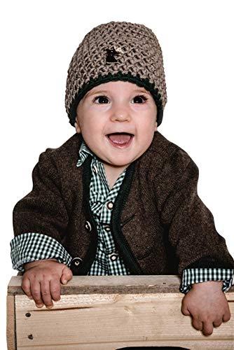 Trachten Jacke Braun Grün Gr.62-92 Baby Buben Kinder Strick Weste