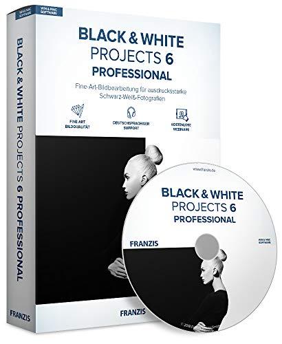FRANZIS BLACK & WHITE projects 6 professional   Perfekte Schwarz-Weiß-Fotografie   für Windows PC und Mac  CD-ROM