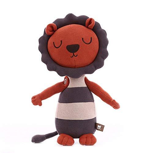 Pluche Jungle Broer Dier Leeuw Knuffel Kussen Kleine Leeuw Pop-Oranje Grijs _40cm