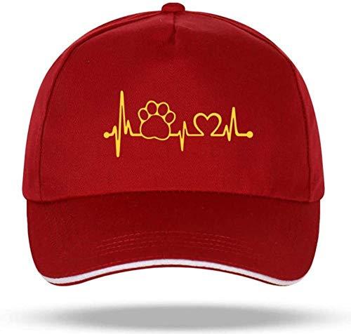 Casquette à visière Hip-Hop Cotton Velcro Trucker Hat Bone Daddy Hat Man Woman Fashion Claw Heartbeat Lifeline Monitor