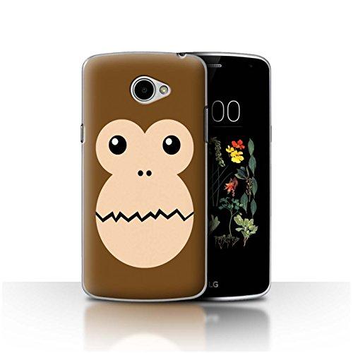 Stuff4®® - Funda para teléfono móvil con diseño de Dibujos Animados Mono LG K5/X220