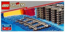 Curved Train Track - LEGO 4520