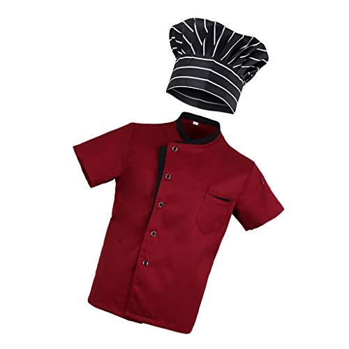 Sharplace 1 x T-shirt, 1 x hoed, hotel, keuken, uniform, M, kleding voor keuken/bakker/afspraken. - - M