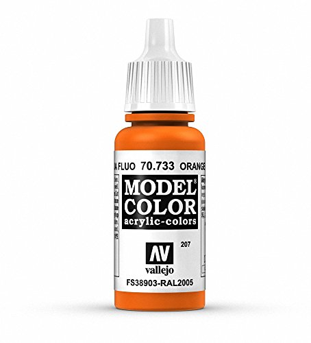Vallejo - Model Color Pintura Acrílica, Naranja Fluorescente (70733)