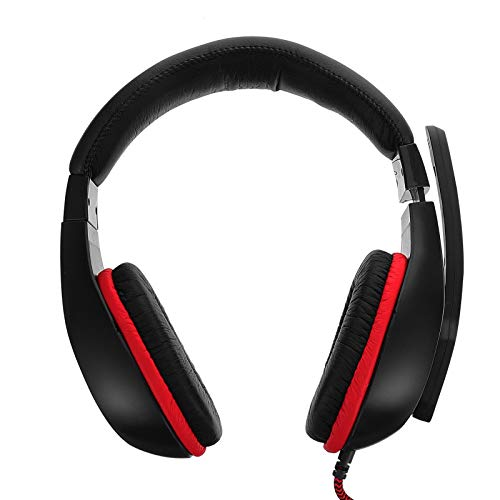 SOLUSTRE Wireless Gaming Headset Over Ear Headset Stereo Surround Sound Headphone with Noise Cancelling Mic Compatible for PS4 PC Laptop Computer Games