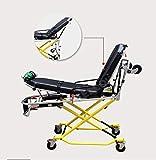 LLQ Camilla de Rescate, Transporte médico Aleación de Aluminio de Emergencia Camilla de Ambulancia Ajustable eléctricamente (Amarillo)