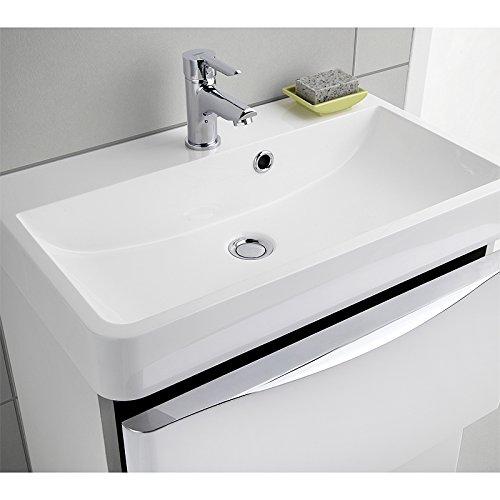 Design Badezimmer Set Hacienda braun Badezimmermöbel Waschplatz Bad Gäste WC