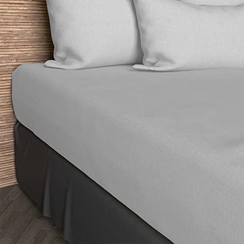 Soleil d'Ocre - 612800,LenzuolaSingoloSingolo con angoli elasticizzati, in cotone, Bianco, 140 x 200 cm