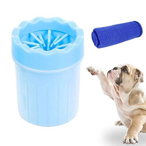 Limpiador de patas de perros, silicona, cepillo de limpieza para mascotas, con una toalla,Lavadora de pies de Perro,Limpiador de Patas,Taza de Limpieza para Mascotas,Limpiador de Patas para Perro Gato