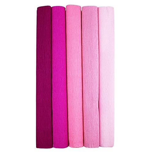 Bnkeo - Rollos de papel crepé de 5 colores para bricolaje, varios...