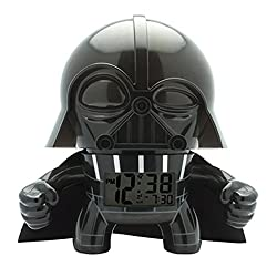 BulbBotz Star Wars Darth Vader Kids Light up Alarm Clock | Black/Gray | Plastic | 7.5 inches Tall | LCD Display | boy Girl | Official