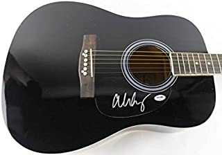 Alice Cooper Signed Acoustic Guitar Autograph #S38011 - PSA/DNA Certified