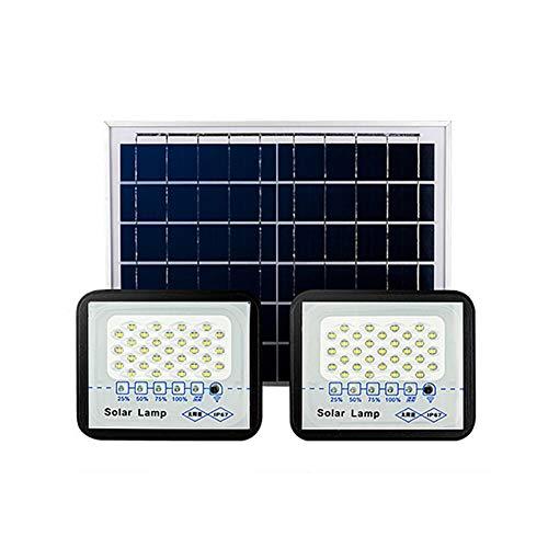 LED Solar Foco Proyector, IP67 Paneles Solares Control Remoto A Prueba de Agua, Lámparas de Seguridad Para Cobertizo, Granero, Letrero(Color:50W)