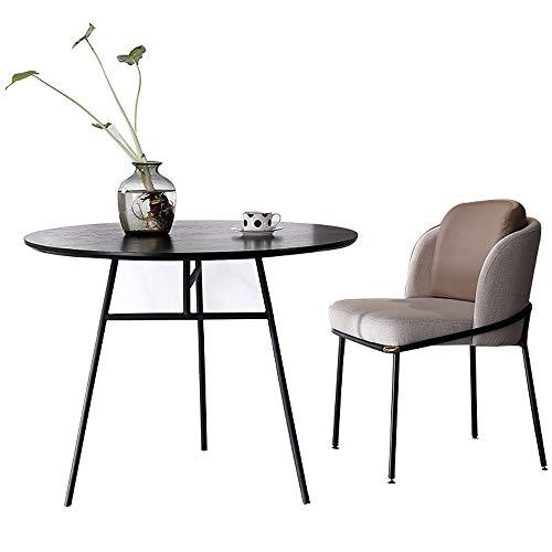 JU FU Tisch- und Stuhlkombination, modern minimalistischer Haus Esstisch runder Tisch Outdoor-Freizeit-Tisch und Stuhl Kombination, 2 Kombinationen 4 Größen verfügbar