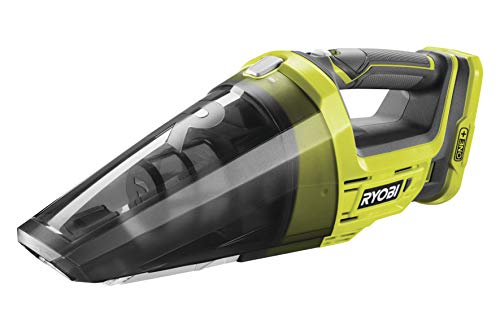 Ryobi R18HV-0 Akku-Handsauger 18V R18HV-0, Staubsauger / Trockensauger mit arretierbarem Schalter für Dauerbetrieb, Schneller Filterwechsel, inklusive Fugendüse mit Bürstenaufsatz, GripZone™