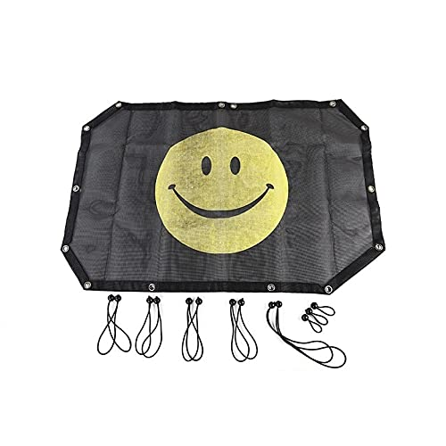 PPuujia Cubierta para sombrilla de 2/4 puertas, protección contra rayos UV, protección solar, malla para Jeep Wrangler JK 2007-2017 accesorios de coche estilo (nombre del color: sonrisa de 2 puertas)