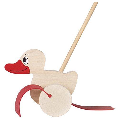 goki 54939 Ente Schiebe-Spielzeug, gemischt