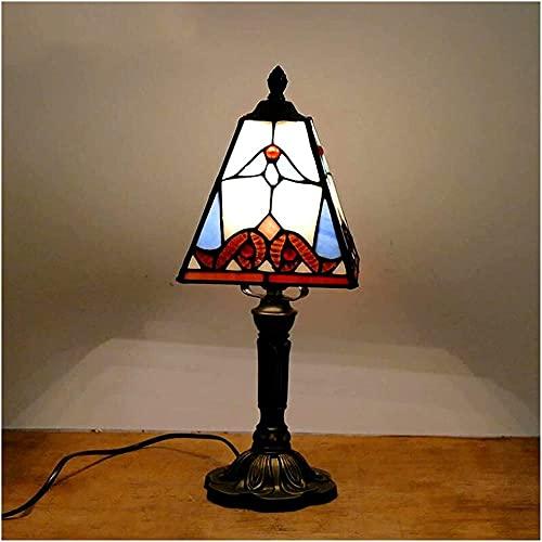 Lámpara del Banquero Estilo mediterráneo Restaurante Bar Cafe LED Lámpara de escritorio vintage Mesita de noche Lámparas de mesa de vidrio coloridas Mesita de noche Light-K