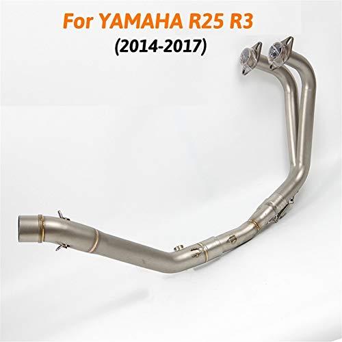 MT03 Motorrad Auspuff mittlere und vorderes Verbindungsrohr-System for Yamaha MT03 MT 03 2016 2017 2018 R25 R3 YZF 2014-2018 Auspuff & Abgasanlage