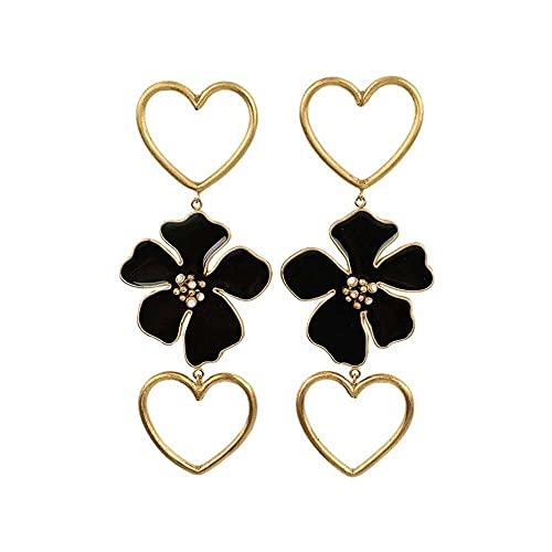 junmo shop Pendientes colgantes de moda grandes de resina de amor, pendientes de gota salvaje, joyería para mujeres y niñas