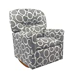 Dozydotes Contemporary Freehand Storm - Grey Rocker Recliner