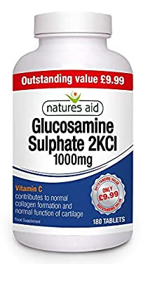 Natures Aid Glucosamine Sulphate 1000mg (With Vit C) (180 Tablets)
