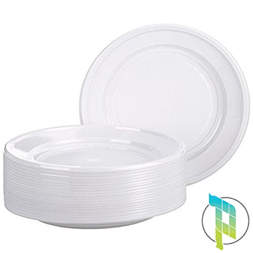 Palucart piatti plastica usa e getta piani 14cf x 35 pezzi bianchi monouso articoli per feste 504 piatti