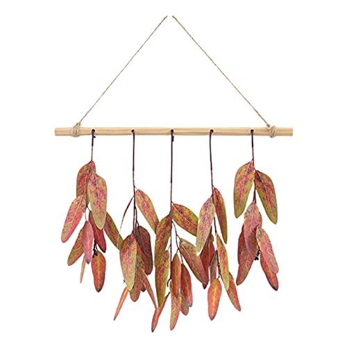PINBinyee Plantas artificiales para interiores en macetas, hojas artificiales realistas para colgar, diseño de plástico, bonito para combinar con hojas de eucalipto para el hogar, 40 cm