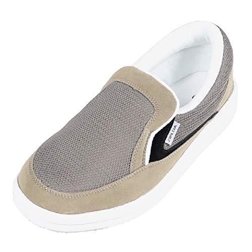 [コーコス信岡] 作業靴 スリッポン ZIPLOA(ジプロア) 超軽量スニーカー EVAソール 先芯なし 女性用サイズ対応 グレー 26 cm 4E