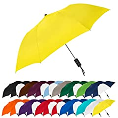 """LIGHT, COMPACT, AND EASY TO CARRY.  This umbrella opens to a 42"""" arc (38"""" diameter) and folds down to a small 15"""" length, so it's easy to take along with you when shopping, going to work, walking your dog, attending sporting events or for travel!  Fi..."""