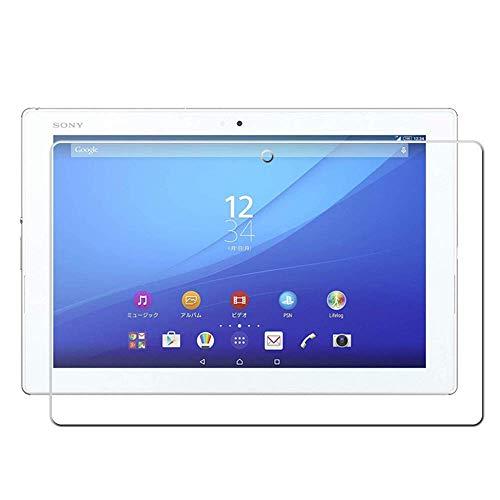 TRkin Sony Xperia Z2 Tablet SGP512 強化ガラスフィルムSony Xperia Z2 Tablet SGP512 液晶保護フィルム 気泡ゼロ 99%高透過率 硬度9H 指紋防止 飛散防止 耐衝撃 超薄0.3mm 2.5D ラウンドエッジ加工 (Sony Xperia Z2 Tablet SGP512)