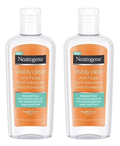 Neutrogena Visibly Clear Anti-Pickel Sanft Klärendes Gesichtswasser – Mildes Reinigungwasser mit...