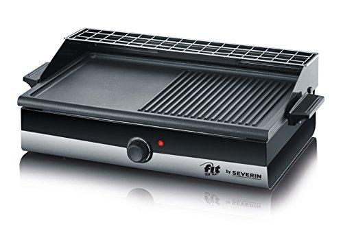 Severin KG 2367 Barbecue-Grill Smart-Line, schwarz/edelstahl gebürstet