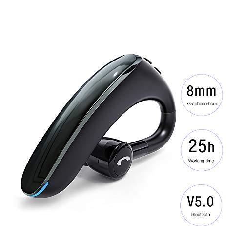 Bluetooth 5.0 Headset, beengeleiding Hoofdtelefoon ondersteuning SIRI Voice Assistant 180 ° Rotation ISO Voedingsdisplay om tv te kijken, Huishoudelijk