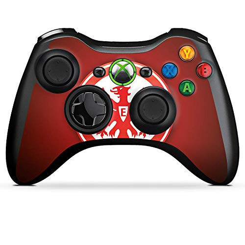 Skin kompatibel mit Microsoft Xbox 360 Controller Aufkleber Folie Sticker Eintracht Frankfurt Fanartikel Sge Bundesliga