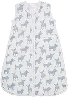 Aden + Anais Classic Sleeping Bag, 100% Cotton Muslin, Wearable Baby Blanket, Medium, 6-12 Months, Waverly - Pup
