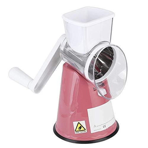 Cortador de alimentos desmontable Rallador de verduras giratorio para pepino(Pink)